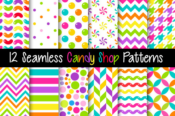 Seamless Bright Candy Patterns
