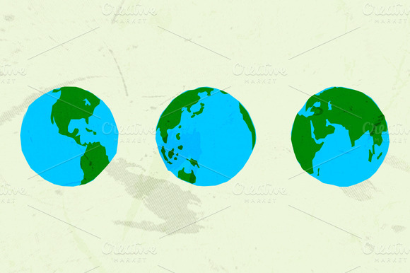 30 Handdrawn Vector Globe Shapes