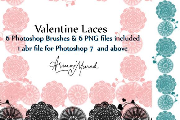 Valentine Laces Photoshop Brushes