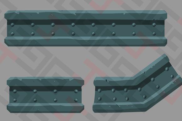 Platform Metal Beam Asset
