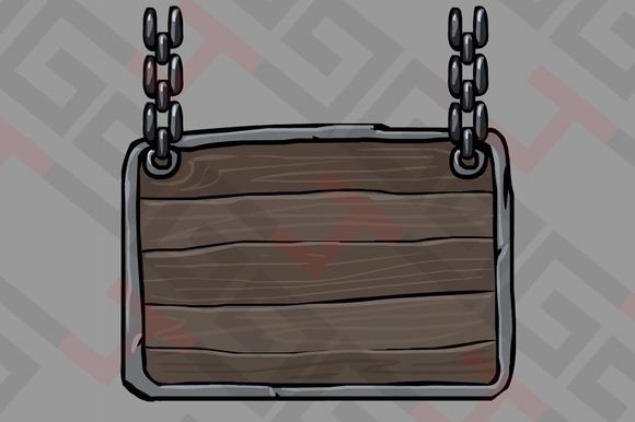 Medieval Wood Ui Panel