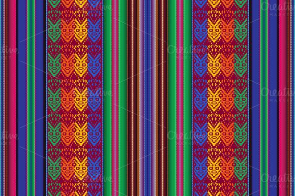 Seamless Pattern Indigenous People