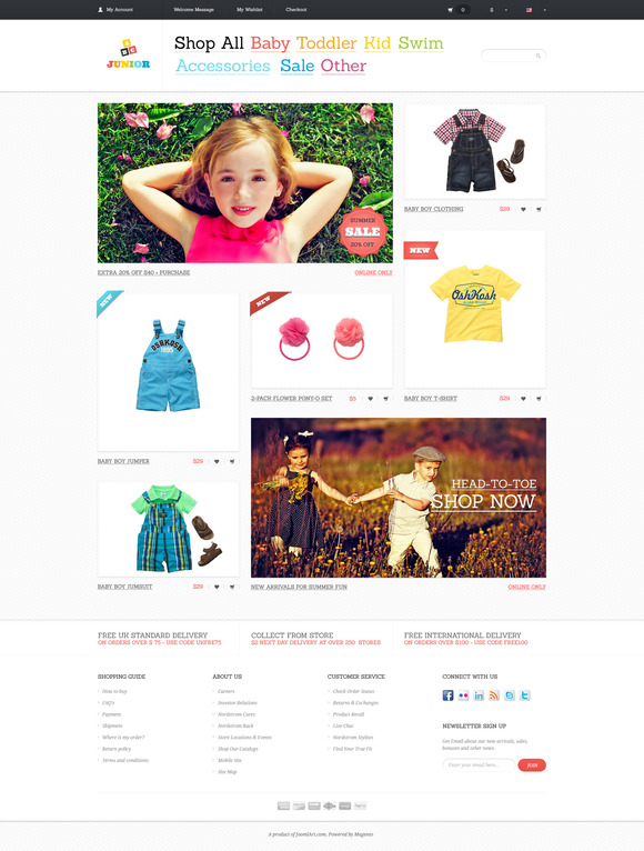 Junior PSD Template For ECommerce