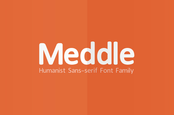 Meddle Sans-serif Font Family