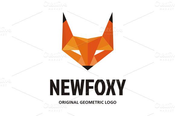 NewFoxy Logo In Geometric Style