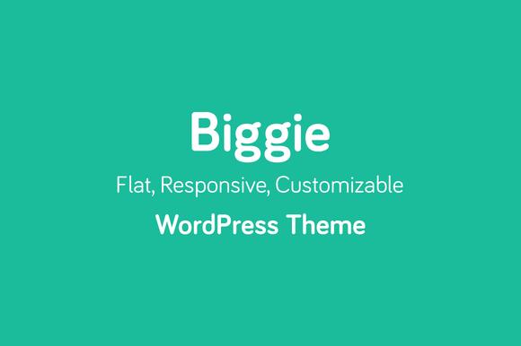 Biggie Flat WordPress Theme