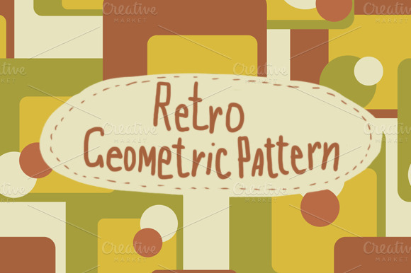 Geometric Retro Seamless Pattern