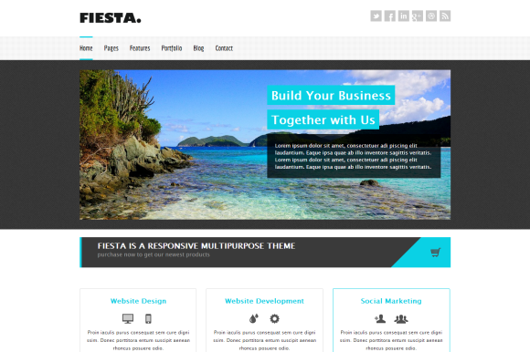 Fiesta Responsive HTML5 Template