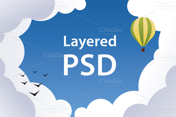 PSD Sky Banners And Backgrounds