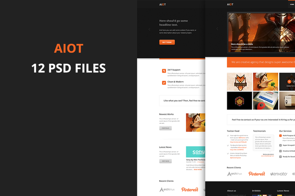 Aiot Multi Purpose PSD Template