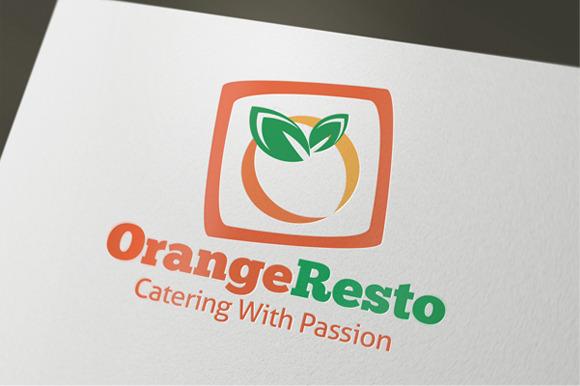 Orange Resto Restaurant Logo