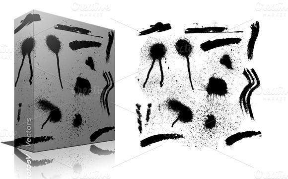 Splash And Stains Vector Brushes