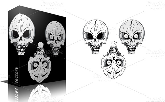 Skulls Vectors Brushes