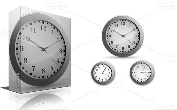 Clock Vectors PNG Brushes