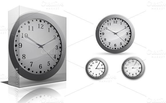 Clock Vectors PNG Brushes
