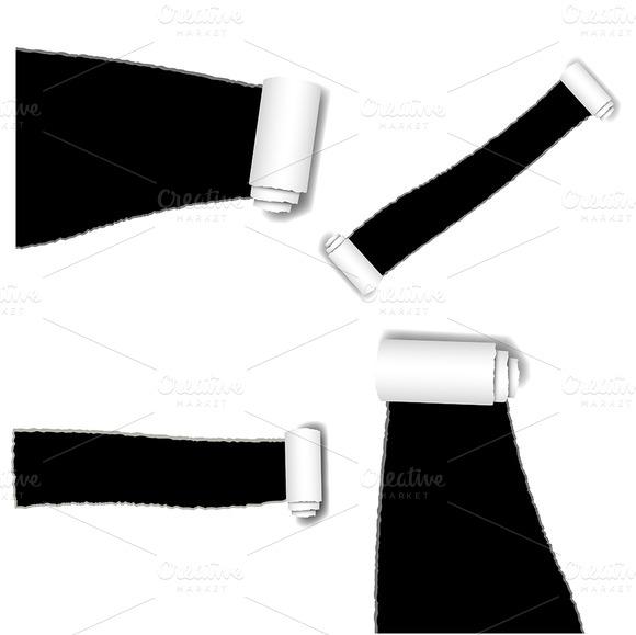 Torn Paper Vectors PNG Brushes
