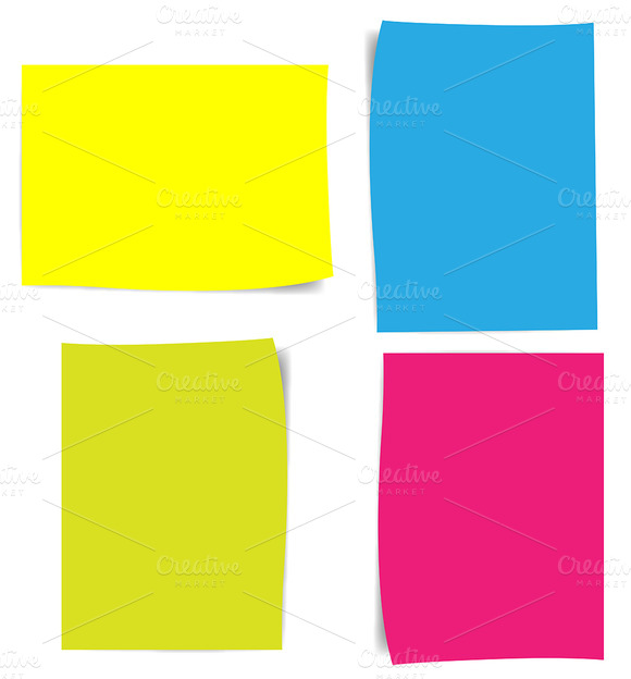 Colorful Notes Papers Vectors