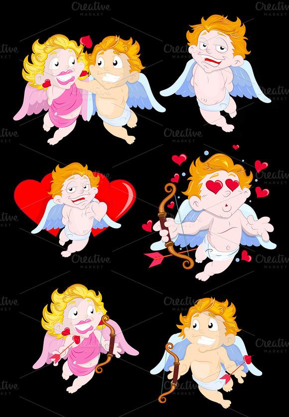 Cupids PNG Vectors