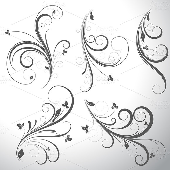 Swirls Vector Elements Designs