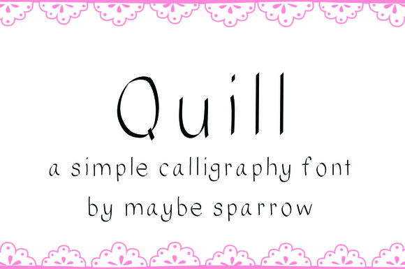 Quill And Ink Font creativemarket ...