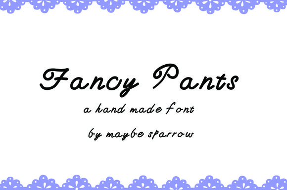 Fancy Pants Web Font