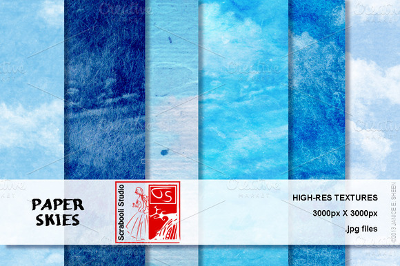 Paper Skies 6 Textures