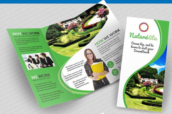 Multifunctional 3-fold Brochures