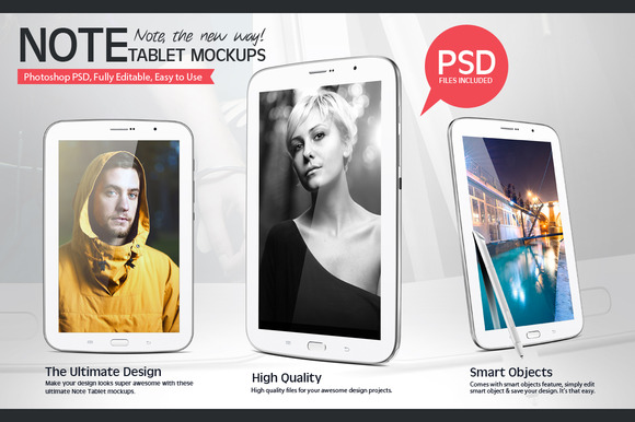 Note Tablet Mockups