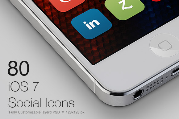80 IOS7 Social Media Icons