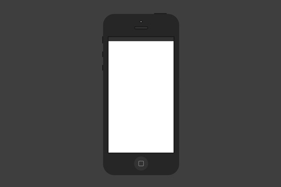 Minimal Black IPhone 5 PSD Template