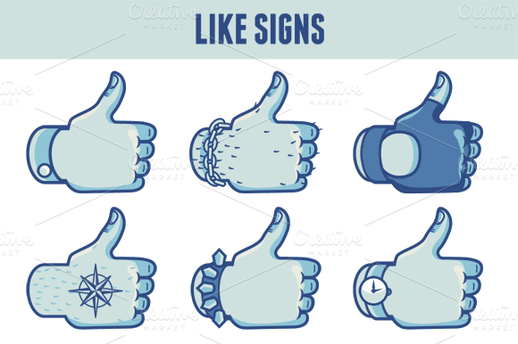 Vector Like Signs In Different Style