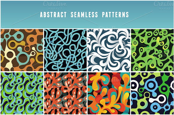 Vector Psychedelic Seamless Patterns