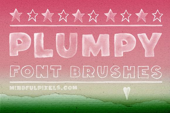 Plumpy Font Brushes