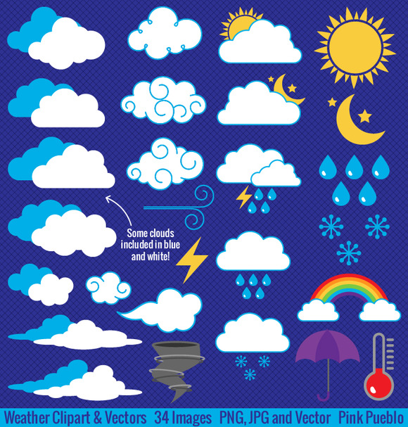 Weather Clipart And Vectors