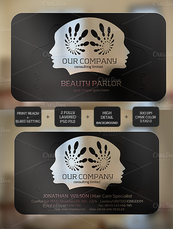 Beauty Transparent Card