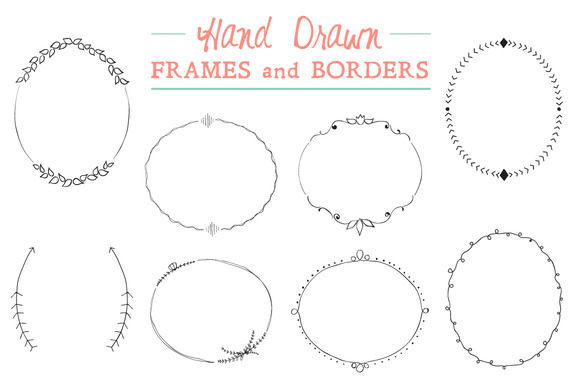 Hand Drawn Frames And Borders