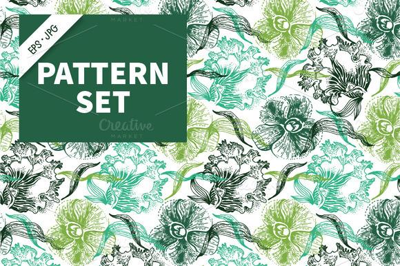 Floral Pattern Vintage Set