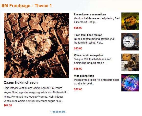 SM FrontPage Magento Module