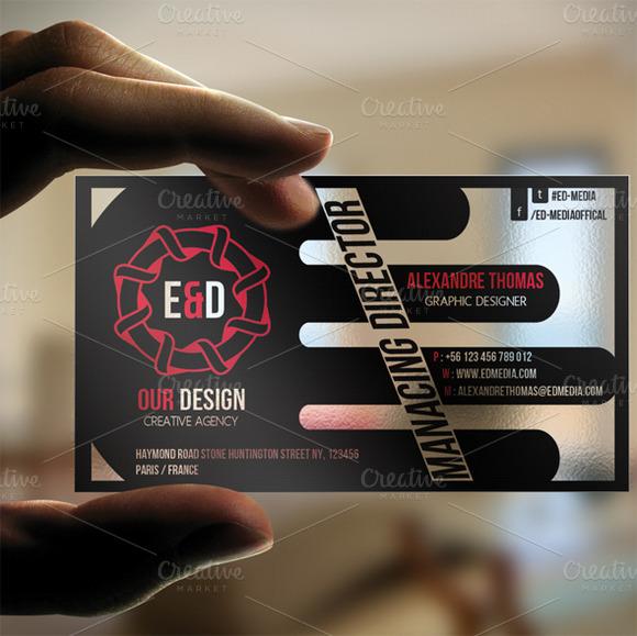 Creative Plastic Business Card
