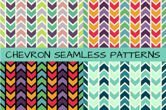 4 Chevron Seamless Patterns