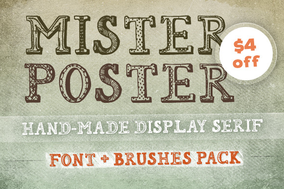 Mr Poster Font Brushes