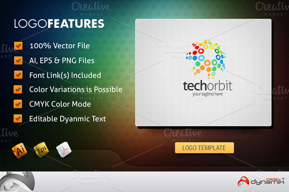TechOrbit Logo Template