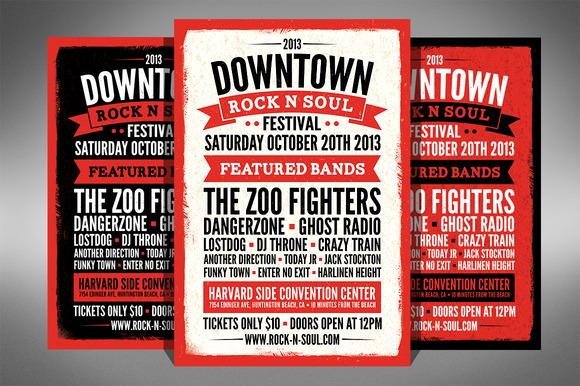 Music Festival Flyer 2 Sizes