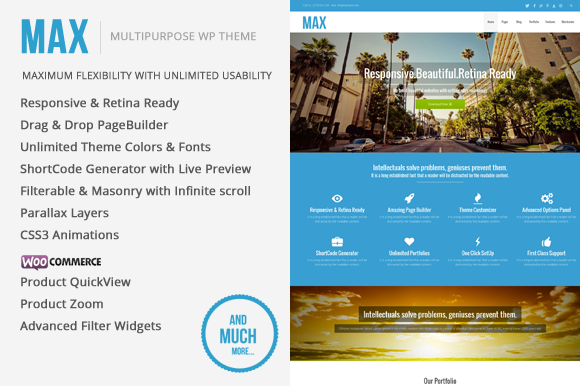 Max MultiPurpose WordPress Theme