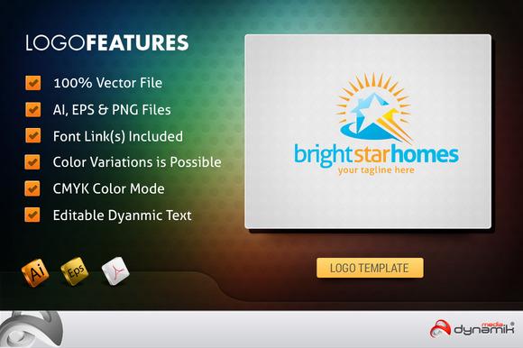 BrightHomeStar Logo Template