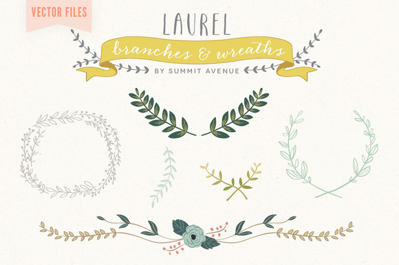 Vector Laurel Wreath Designs
