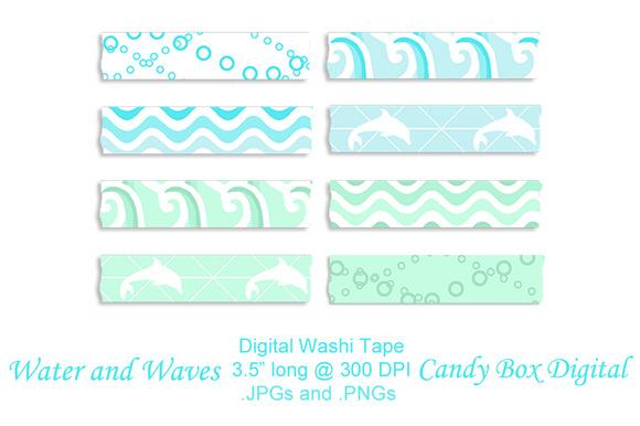 Water N Waves Digital Washi Tape