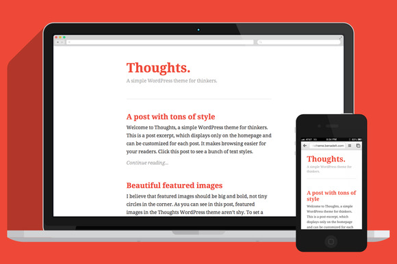 Thoughts A Simple WordPress Theme
