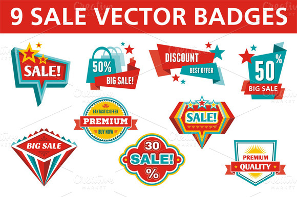 9 Sale Vector Badges