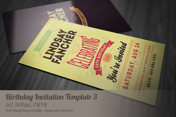 Retro Birthday Invitation 3
